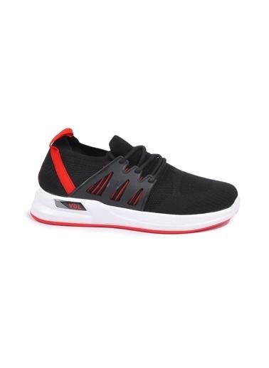 Bambi Bambi 3333 Siyah-Beyaz-Kırmızı Erkek Spor Ayakkabı Siyah